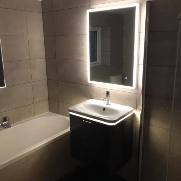 Sink and Mirror with Backlight