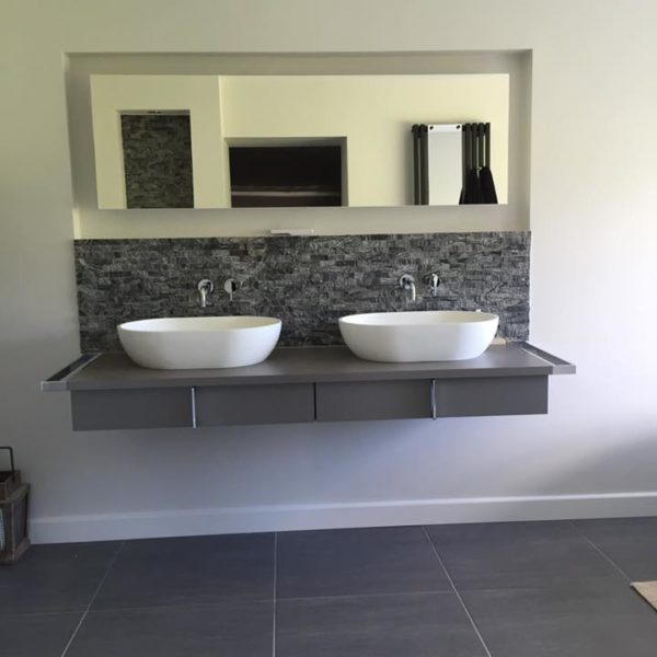Two Floating Sinks with Draws