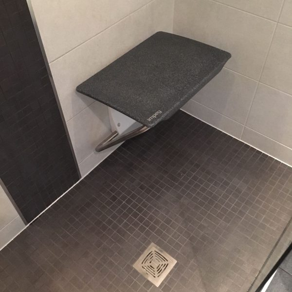 Seat in shower for easy access