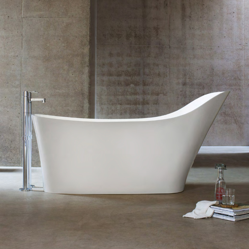 Free Standing Supported Back Stone Bath