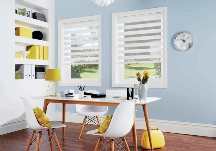 Tuscany white roller blinds