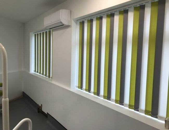 Vertical blinds in a surgery