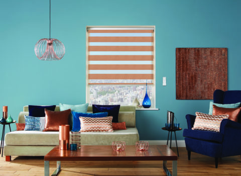 Motorised copper blinds