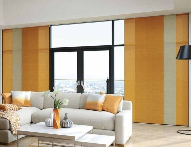 Panel blinds for flats
