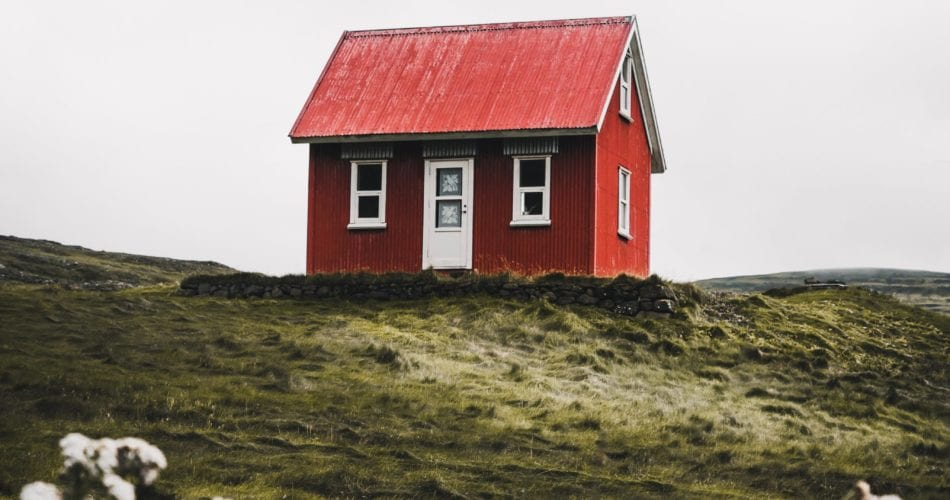Small house on a hill