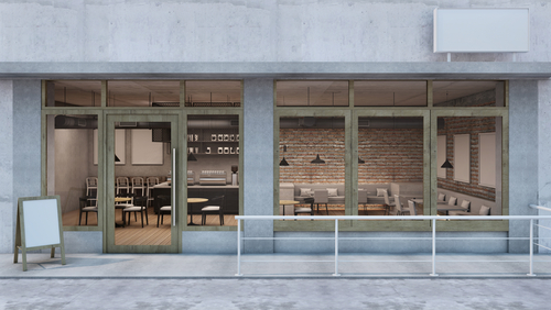 Storefront of a commercial property