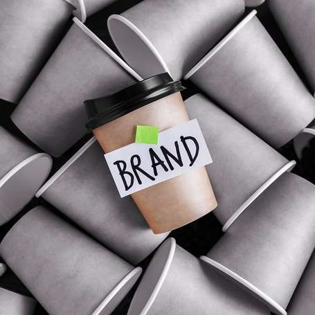 Coffee cups showing the importance of brand