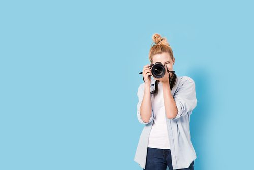Photographer taking a photo