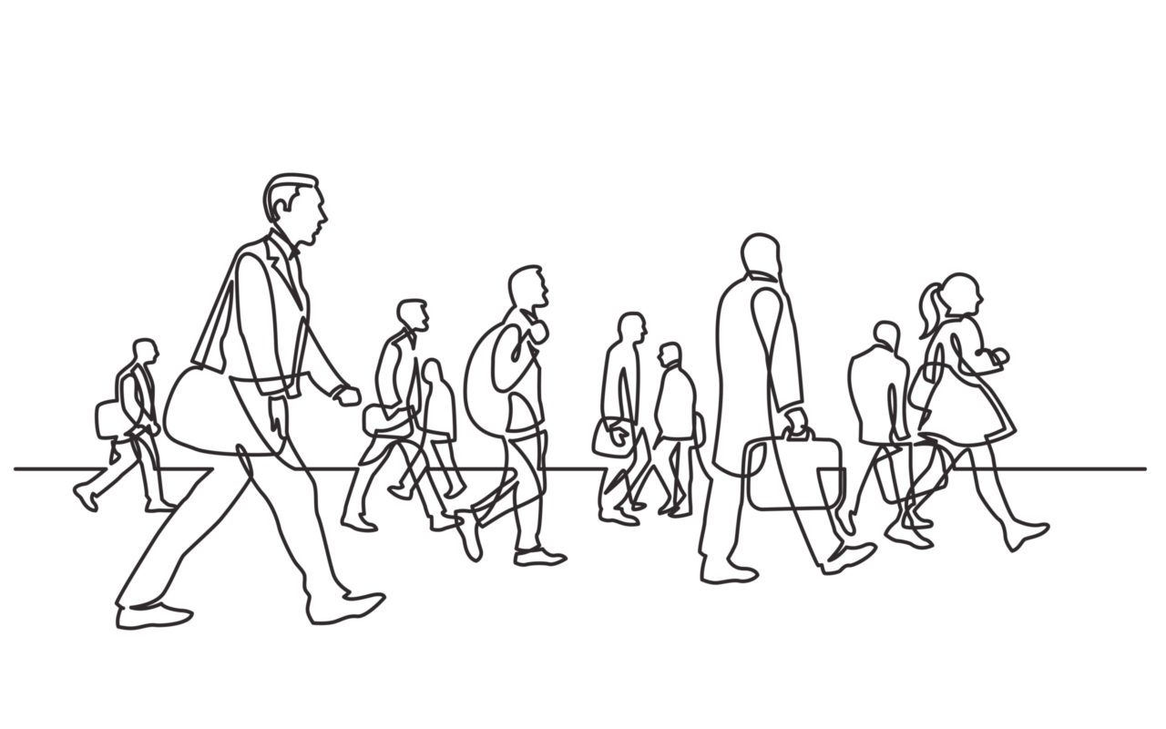 Morning commuters